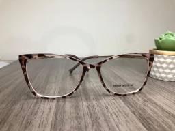 Óculos L.A, modelo quadrado estampa tartaruga