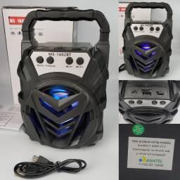 Mini Caixa Caixinha de Som Portátil Bluetooth PenDrive Rádio FM Cartão Memória