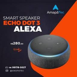 Título do anúncio: Echo Dot 3ª Geração: Smart Speaker com Alexa Cor: Preta