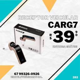 Transmissor Bluetooth FM Veicular CarG7 (entrega grátis)