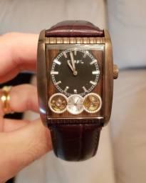 Relógio Fóssil Original Masculino Automático Cobre c/ Amadeirado