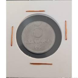 Moeda 5 centavos 1975