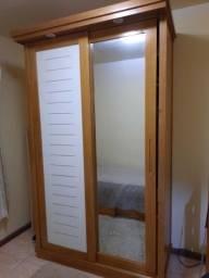 Armario solteiro porta de corre branca