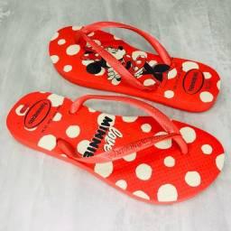 Chinelo Minnie Love Vermelho com Bolinhas Brancas Havaianas