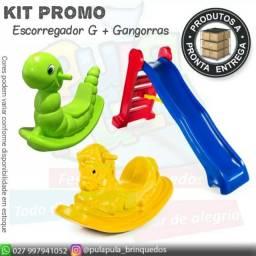 Promoções de Gangorrinhas e escorregadores para a diversão de seus pequeninos