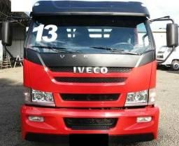 Iveco vertis hd 90v18 2013 vermelha carroceria madeira 6,30 x 2,20 completo - 2013