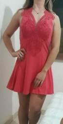 Vendo vestido curto goiaba