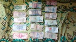 Notas de dinheiros antigos