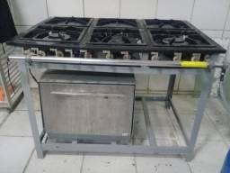 Venda de fogão industrial 6 bocas com forno