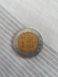 Moeda difícil de se encontrar, 5 pesos dos Estados Unidos Mexicanos