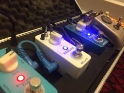 Pedaleira Mooer ( 4 pedais + 1 pedal guvnor Marshall Hard Case