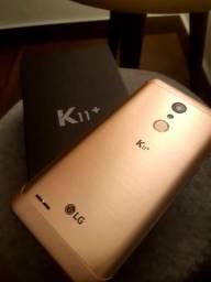 Smartphone LG K11+ Plus, 32gb, 3 ram, Dourado, Novo, Carregador, Fone de Ouvido, Top!!