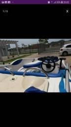 Lancha twister 150 motor 50 hp aceita trocas