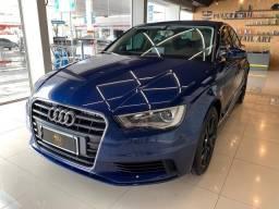 Audi A3 Sedan 2015 Top! Interior Claro!! Volante Multifuncional! Bancos em Couro! - 2015