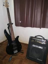 Baixo Yamaha, Amplificador Meteoro e Case Carneiro