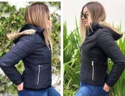 Jaquetas femininas forradas com capuz removível novas