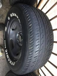 Jogo de rodas Ranger aro 14 pneus Hankook Dynamic comprar usado  São Paulo