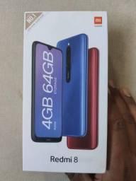 Preço imbatível. REDMI 8 64 GB da Xiaomi. Novo lacrado com garantia e entrega imediata