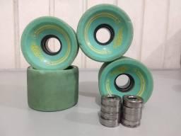 Rodas de long Vintage Wheels 70 mm + rolamentos Abec 3