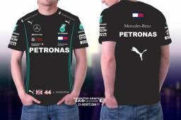 Camisa F1 Corrida Mercedes Hamilton.