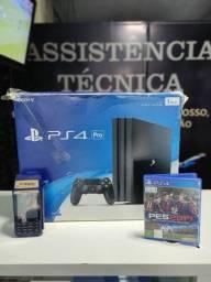 Título do anúncio: PS4 pró 1Tb Garantia aceito cartão (Somos Loja Física)