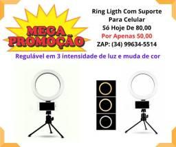 Ring Ligth Com Suporte Para Celular