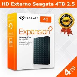 Hd Externo 4Tb Seagate 3.0 USB - Novo Pronta - Entrega