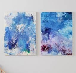 Título do anúncio: Dois quadros abstratos tamanho 50x70cm cada