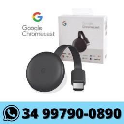 Chromecast 3º Geração Google Original Novo Lacrado!