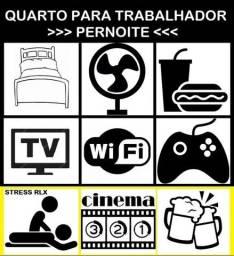 Quarto para Trabalhador Homem (3/Pernoites) c/ lanche, internet
