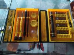 Kit ferramentas chave 38 peças torx Philips Precisão celular