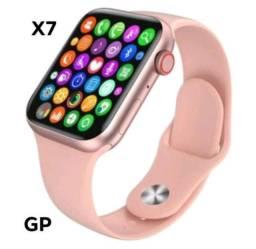Relógio Smartwatch  Inteligente X7 + Capa Silicone Troca/ Foto