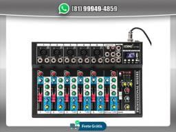 Título do anúncio: Mesa De Som Lelong 7 Canais Bluetooth Usb C/ Equalizador KT709
