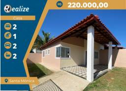 Título do anúncio: CA00210 Excelente Casa Nova de 2 quartos sendo 1 suíte no Bairro Santa Mônica