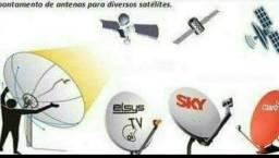 Antena Ku UHF receptor