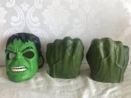 Título do anúncio: Máscara e luvas do Hulk
