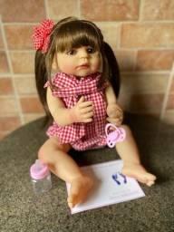 Título do anúncio: Boneca bebê Reborn toda em Silicone realista Nova 55cm (aceito cartão )