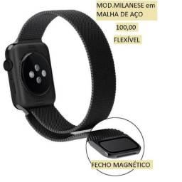 Pulseira para Apple Watch mod.Milanese em mlha de aço flexível.Fecho magnético.5x28,00