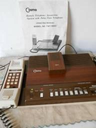 Antigo telefone com fio Cosmo e secretaria eletrônica (no estado)