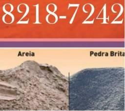 Areia brita tijolos,melhor qualidade e preço pra v