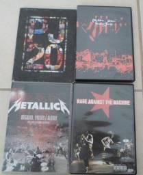 Lote de DVDs Metallica Pearl Jam Rage Against E Outros