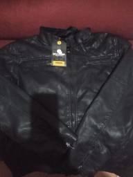 Jaqueta corino masculina nova