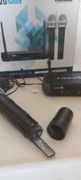 Kit Microfones com e sem fio