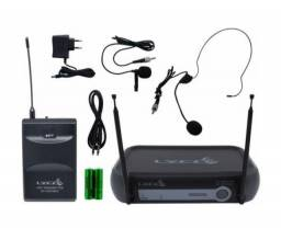 Microfone S/fio Lyco Vh01 Hl Headset E Lapela Vhf Prof Nf-e