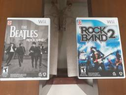 Jogos wii : The beatles, rock band , Rock band 2