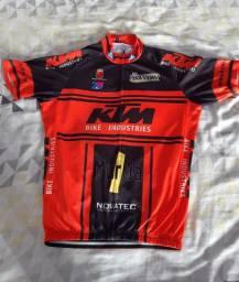 Camisa de ciclismo usada KTM
