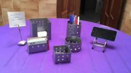 BAIXOU! Kit para escritório com 6 peças