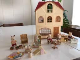 Sylvanian Families - Casa Três Histórias + Kit coleções