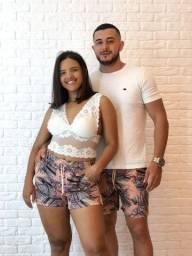 Título do anúncio: Kit short casal tactel