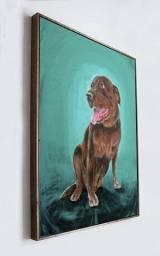 Pintura do seu Pet feito a mão em acrílica sobre tela